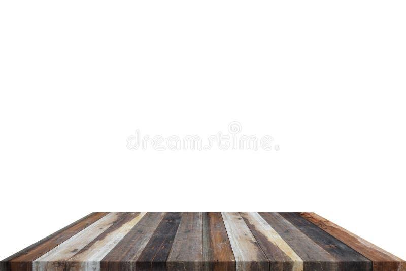 Geïsoleerde grunge houten plank royalty-vrije stock foto