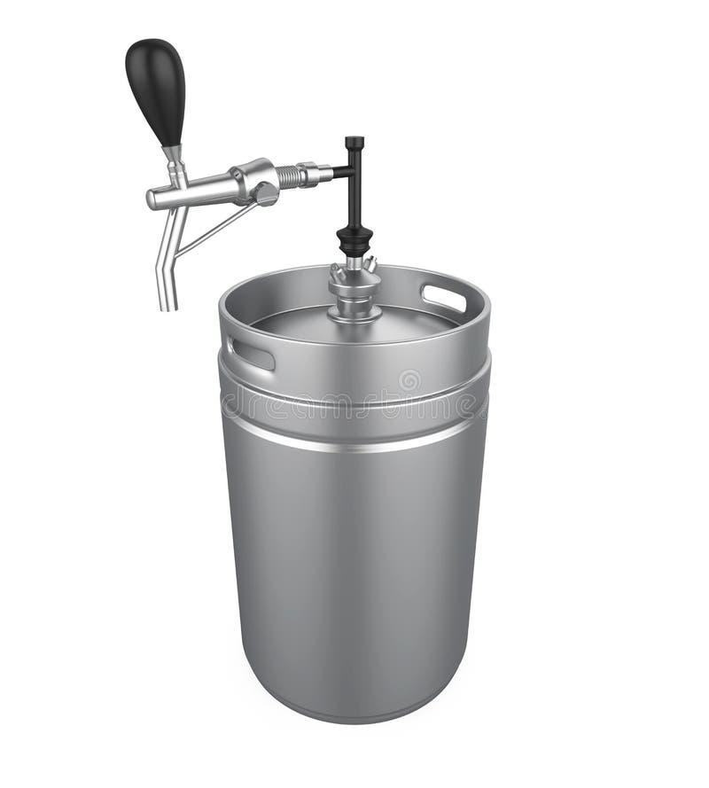 Geïsoleerde het biervaatje van het metaal stock illustratie