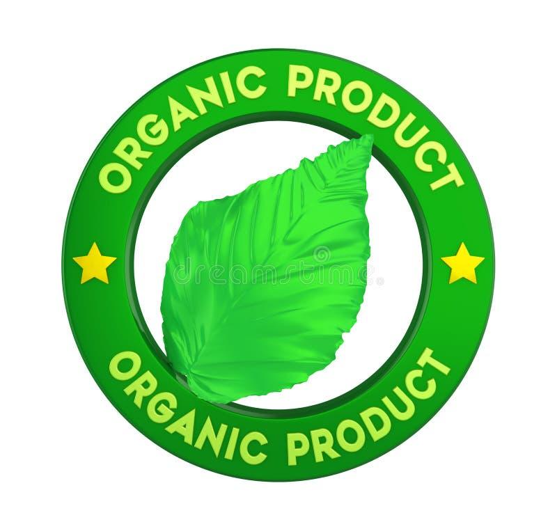 Geïsoleerde het Etiket van het biologisch productkenteken royalty-vrije illustratie