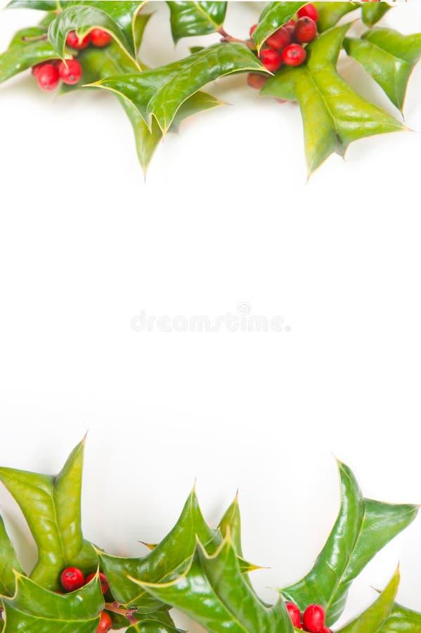 Geïsoleerde het frame van Kerstmis royalty-vrije stock afbeelding