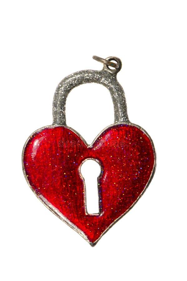 Geïsoleerde het hartsymbool van de valentijnskaartdag royalty-vrije stock foto's