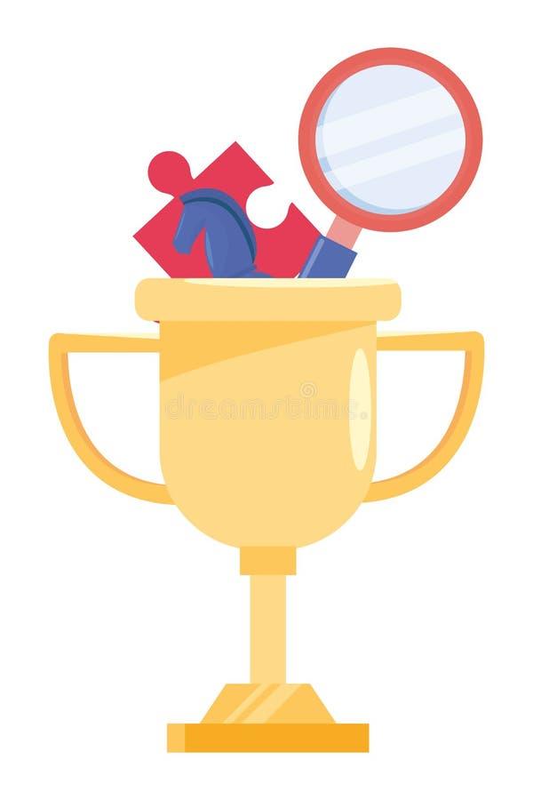 Geïsoleerde het ontwerp vectorillustratie van de de concurrentietrofee stock illustratie