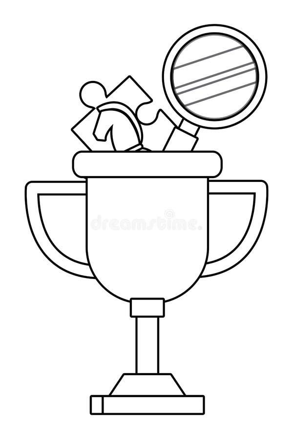 Geïsoleerde het ontwerp vectorillustratie van de de concurrentietrofee vector illustratie