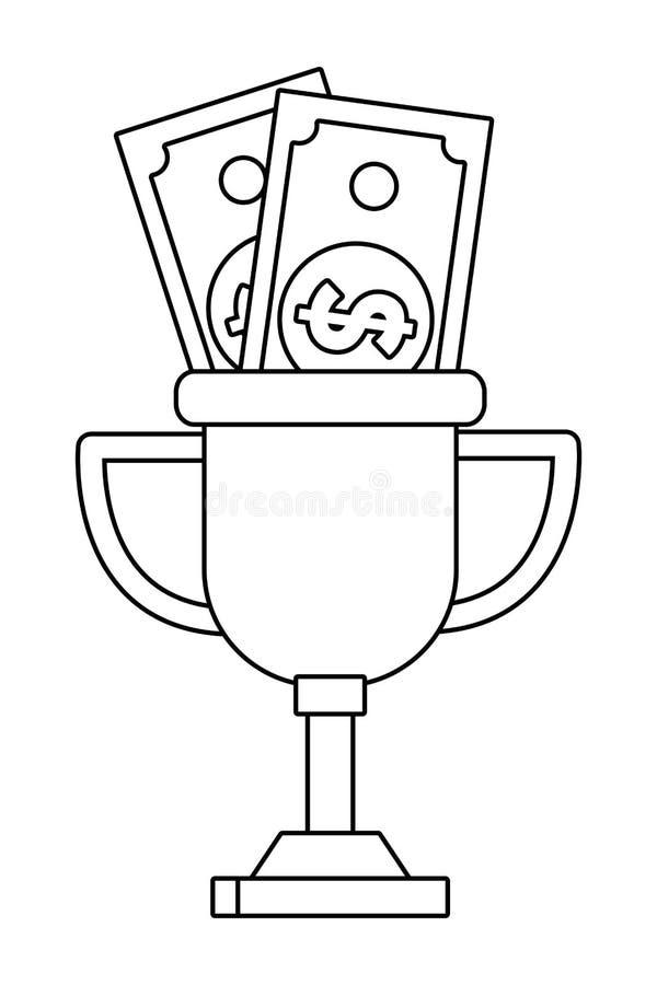 Geïsoleerde het ontwerp vectorillustratie van de de concurrentietrofee royalty-vrije illustratie