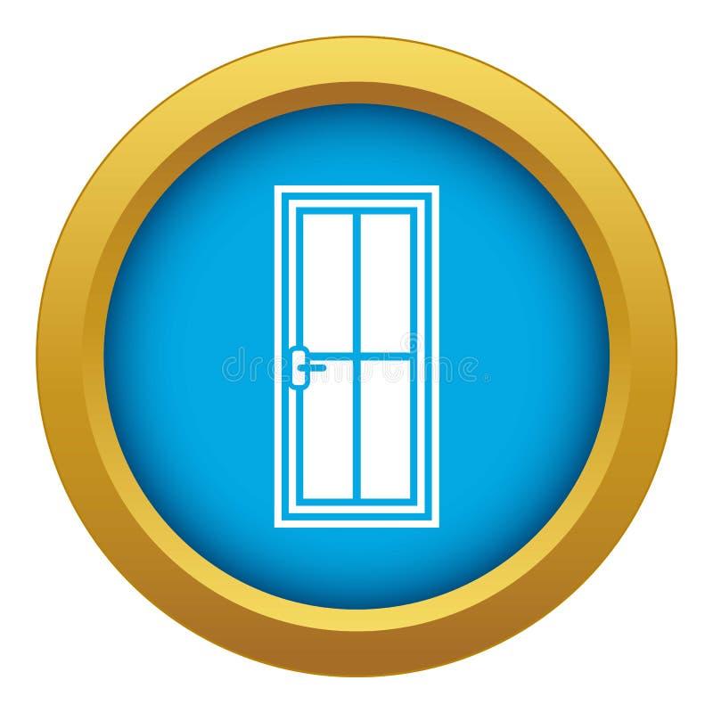 Geïsoleerde het pictogram blauwe vector van de glasdeur vector illustratie