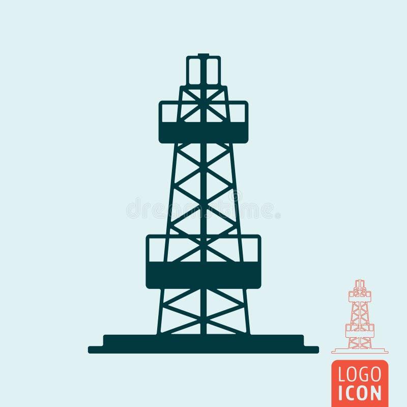 geïsoleerde het pictogram van de olieboortoren vector illustratie