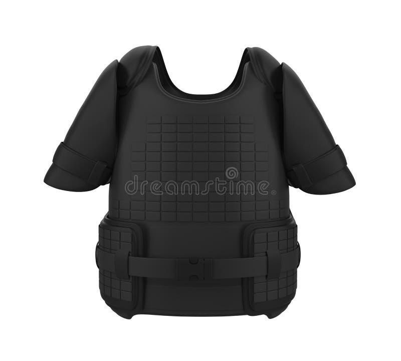 Geïsoleerde het Vest van het kogelbewijs stock illustratie