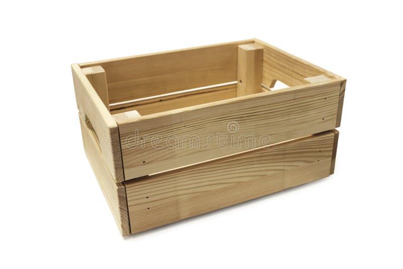 Geïsoleerde houten doos stock foto's