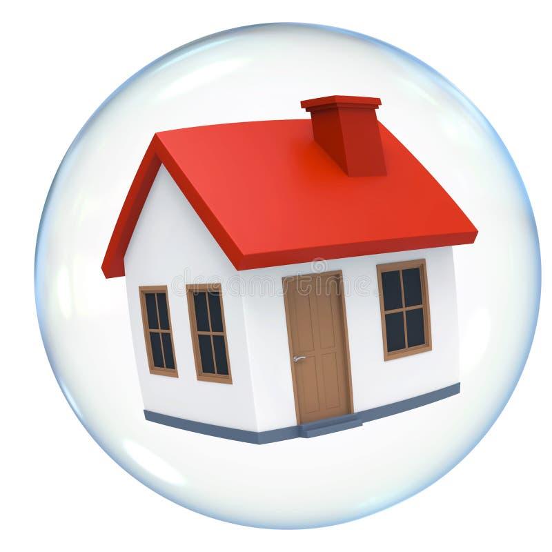 Geïsoleerde huisvestingsbel vector illustratie