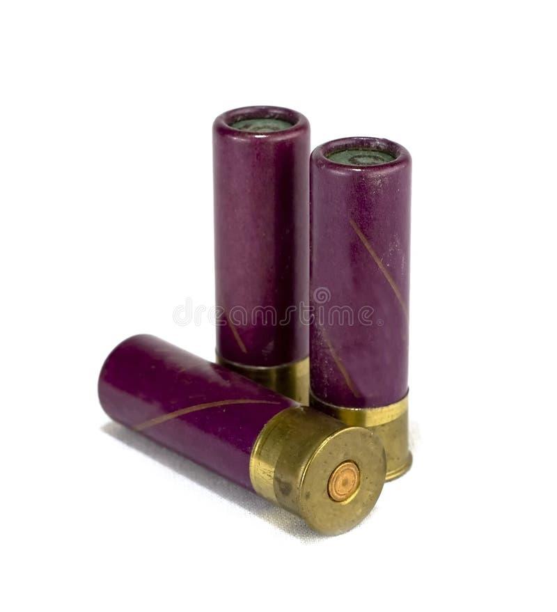 Geïsoleerde jachtgeweershells stock foto