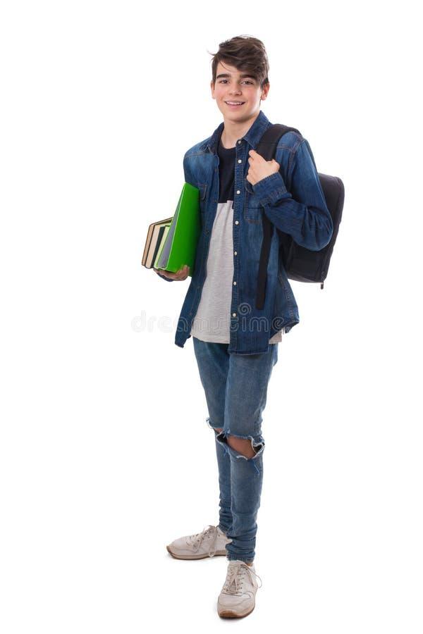 Geïsoleerde kindstudent royalty-vrije stock afbeelding