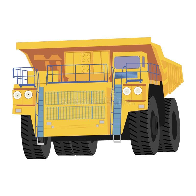 Geïsoleerde kipwagenvrachtwagen royalty-vrije illustratie