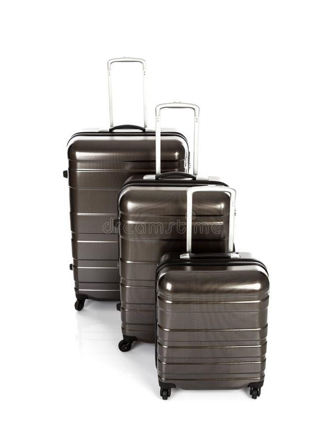 Geïsoleerde koffer stock fotografie
