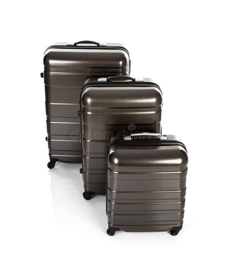 Geïsoleerde koffer stock afbeelding