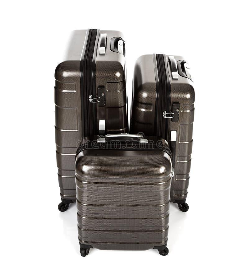 Geïsoleerde koffer stock foto's