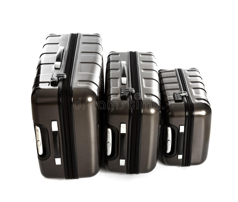Geïsoleerde koffer stock foto