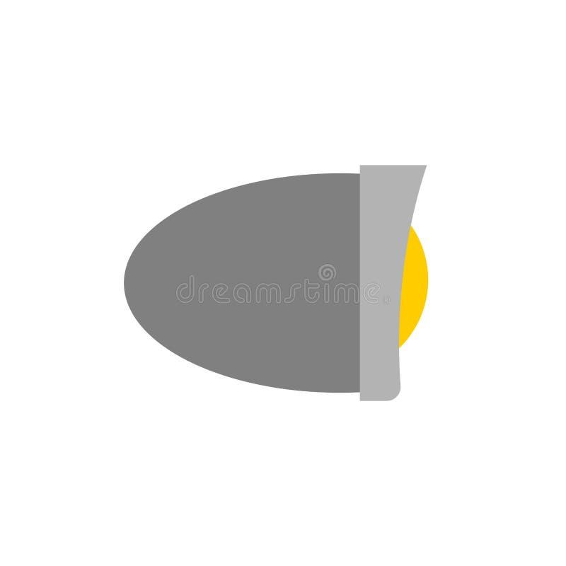 Geïsoleerde koplampfiets Motorfietsdeel Vector illustratie vector illustratie