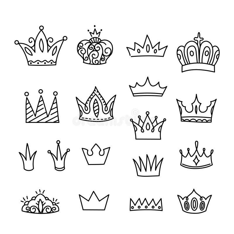 Geïsoleerde kroonvector royalty-vrije stock foto's