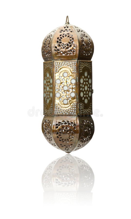 Geïsoleerde lantaarn, Ramadan Lamp Concept royalty-vrije stock foto's