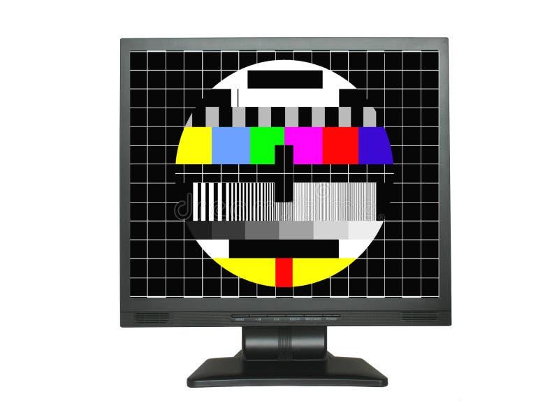 Geïsoleerde LCD met het testscherm royalty-vrije stock foto's