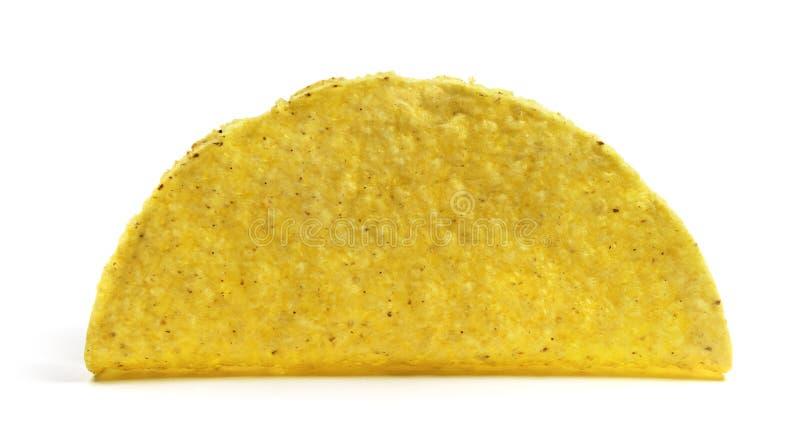 Geïsoleerde lege tacoshell royalty-vrije stock foto