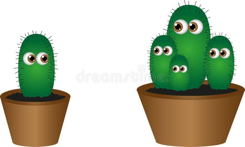 Geïsoleerde levende cactus vector illustratie