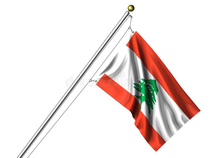 Geïsoleerde Libanese Vlag vector illustratie