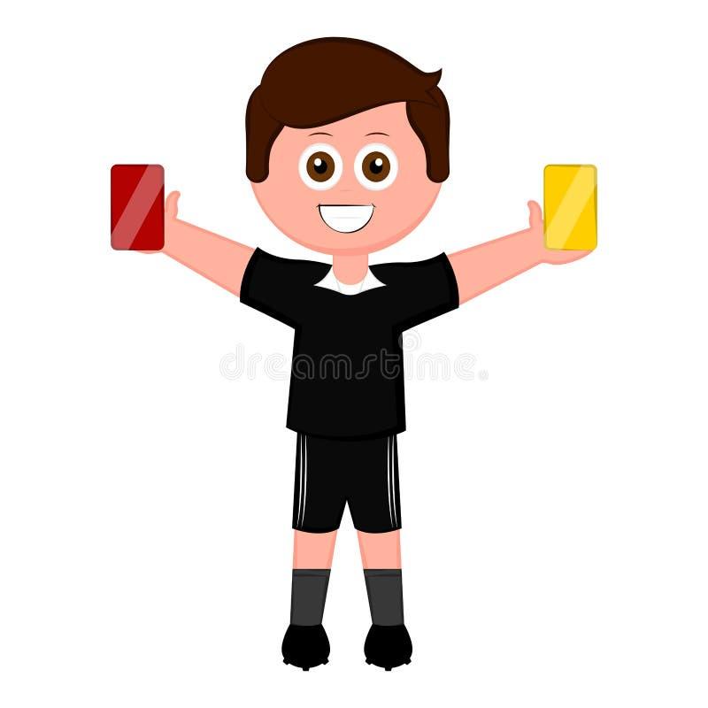 Geïsoleerde mannelijke voetbalscheidsrechter vector illustratie