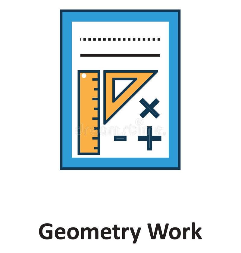 Geïsoleerde meetkunde het Werk en Vectorpictogram voor Technologie stock illustratie