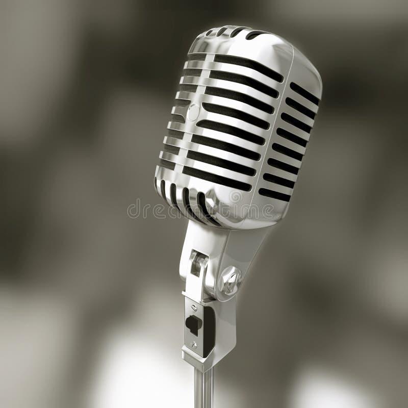 Geïsoleerde microfoon royalty-vrije stock foto's