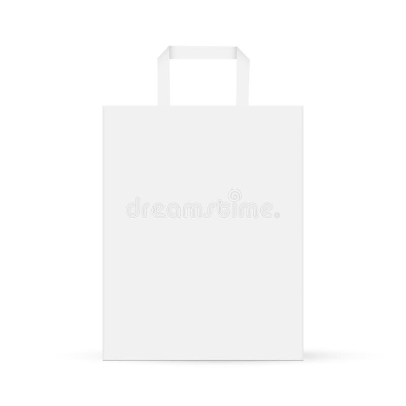 Geïsoleerde model van de karton het rechthoekige zak vector illustratie