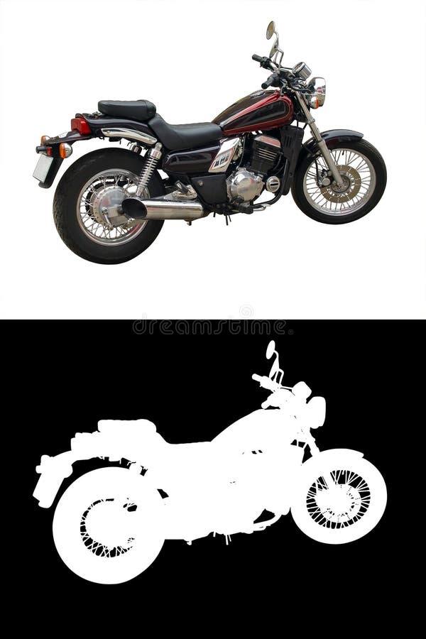 Geïsoleerde Motorfiets Stock Foto