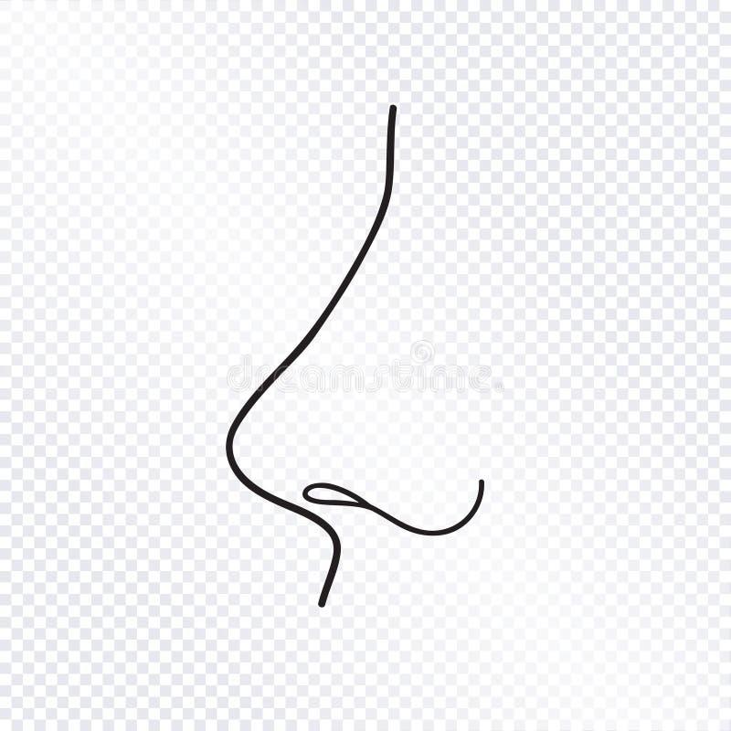 Geïsoleerde neus Menselijk neuspictogram royalty-vrije illustratie