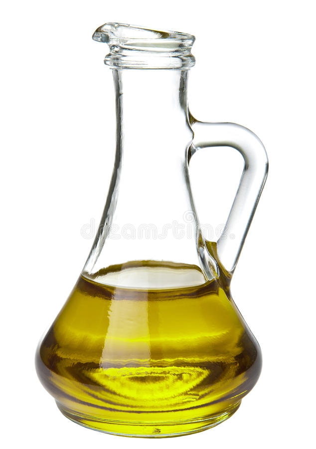 Geïsoleerde olijfolie stock foto's