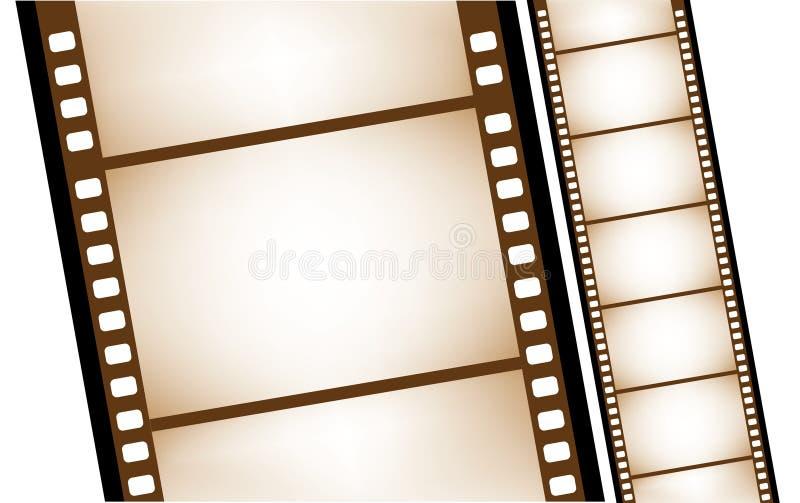 Geïsoleerde oude filmstrip in vector royalty-vrije illustratie