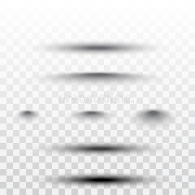 Geïsoleerde paginaverdeler met transparante schaduwen De vectorreeks van de pagina'sscheiding royalty-vrije illustratie
