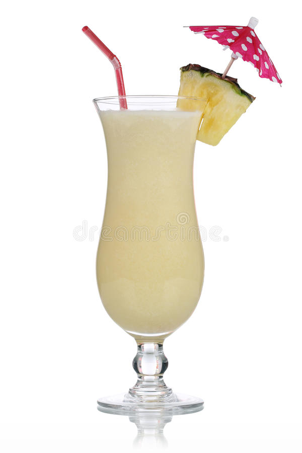 Geïsoleerde Pina Colada Cocktail royalty-vrije stock foto