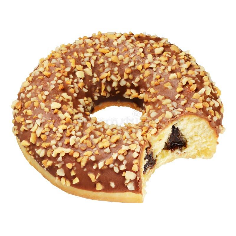 Geïsoleerde pindadoughnut royalty-vrije stock afbeelding