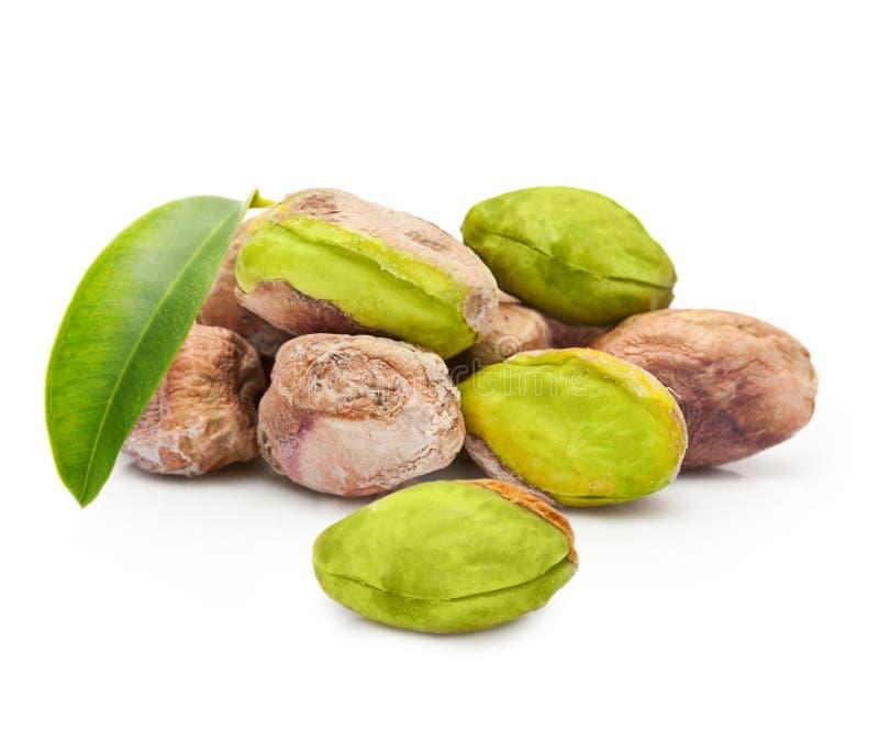 Geïsoleerde pistachenoten stock fotografie