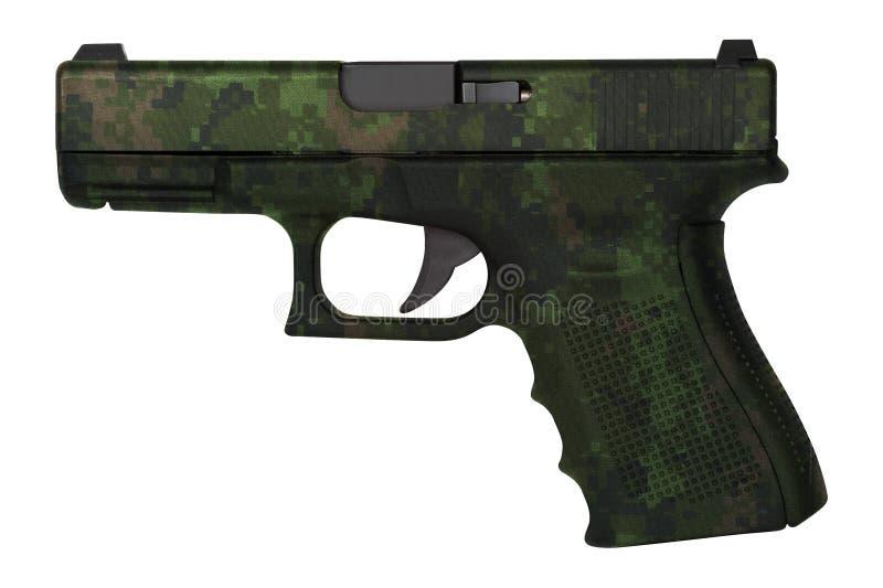 Geïsoleerde pistool van het Glock het automatische 9mm pistool royalty-vrije stock afbeelding