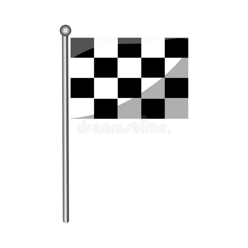 Geïsoleerde rasvlag stock illustratie