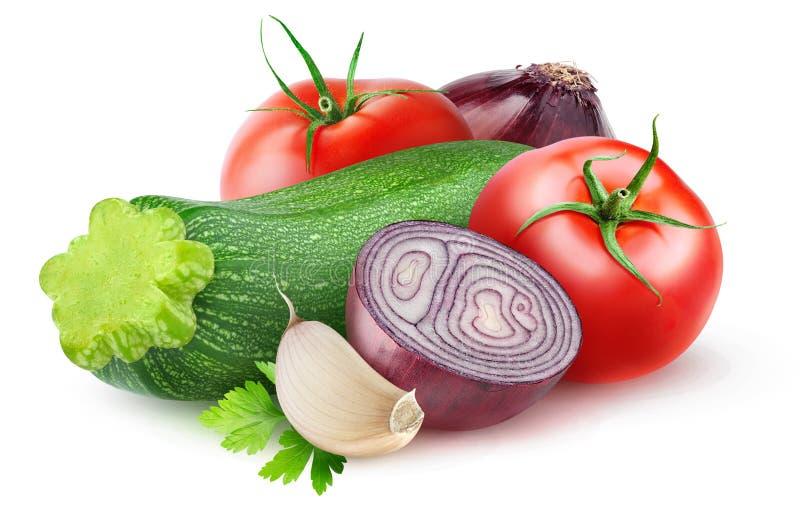Geïsoleerde rauwe groentenmengeling vector illustratie