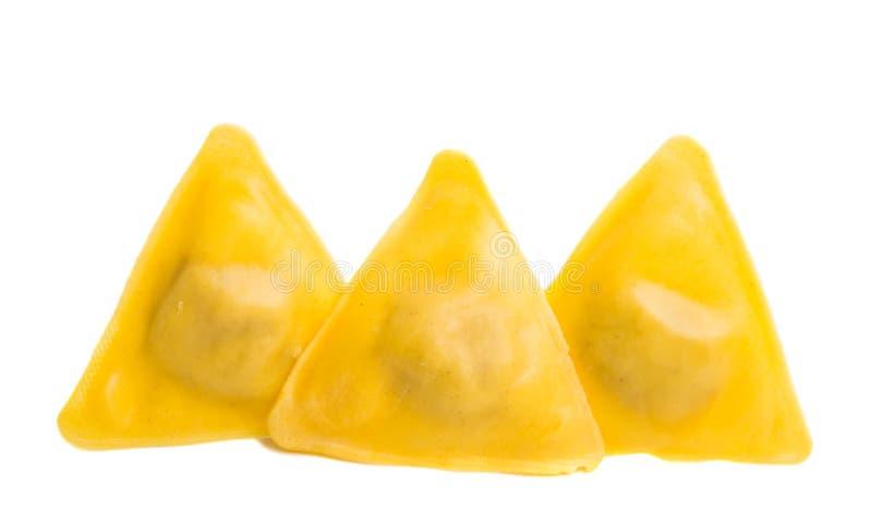 geïsoleerde ravioli royalty-vrije stock afbeelding