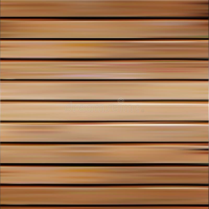 Geïsoleerde realistische naadloze houten textuur vectorillustratie, horizontale raadsachtergrond vector illustratie