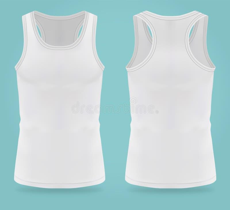 Geïsoleerde realistische witte t-shirts voor vrouwensport stock illustratie