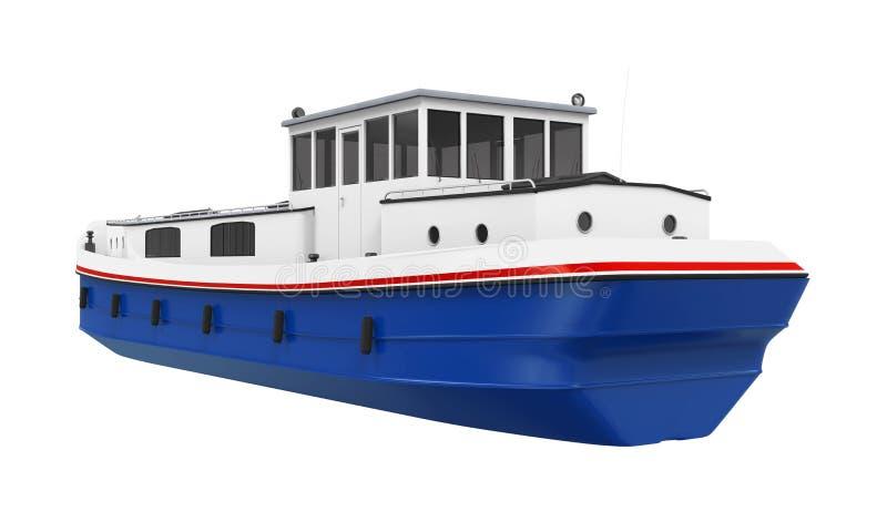 Geïsoleerde rivierboot royalty-vrije illustratie