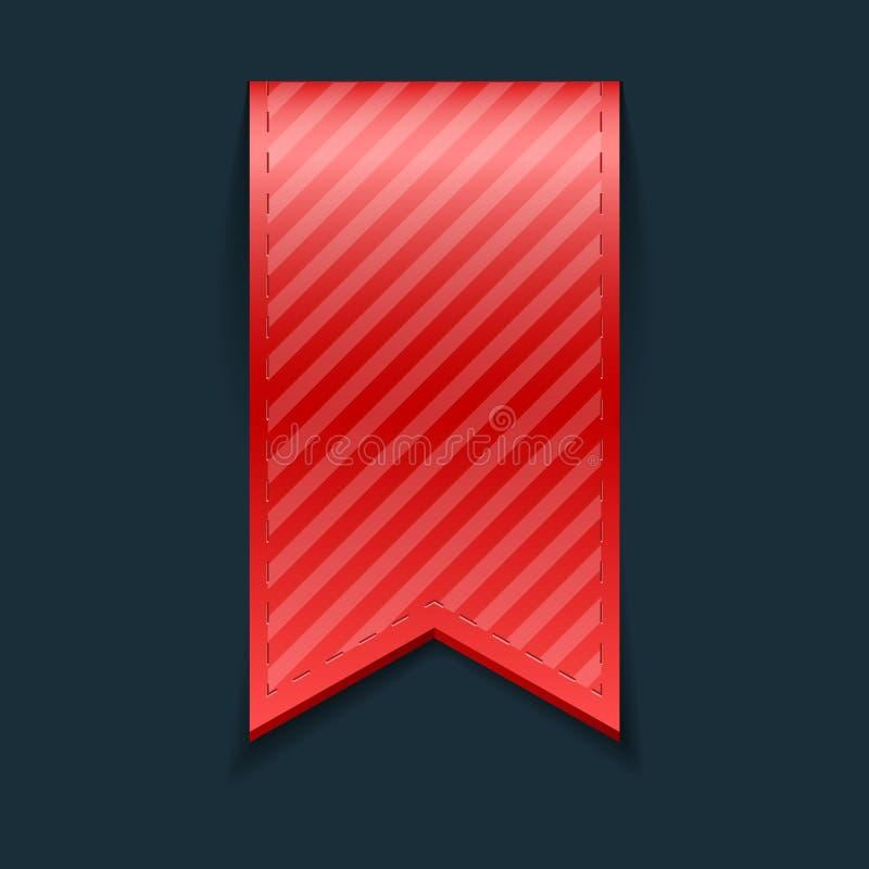Geïsoleerde rode referentie, stock illustratie