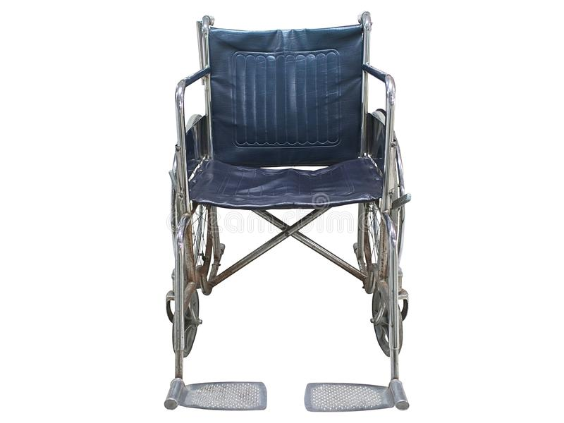 Geïsoleerde rolstoel stock foto's