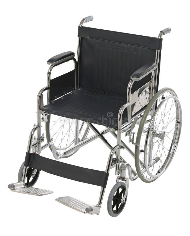Geïsoleerde rolstoel royalty-vrije stock afbeeldingen