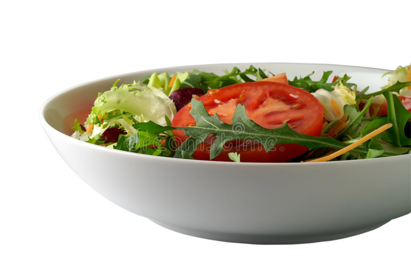 Geïsoleerde salade stock foto's
